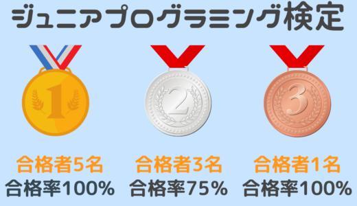 【お知らせ】Scratchジュニアプログラミング検定の結果