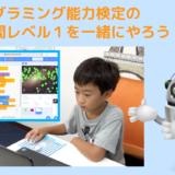 【オンライン講座】プログラミング能力検定レベル1の過去問を一緒にやろう!